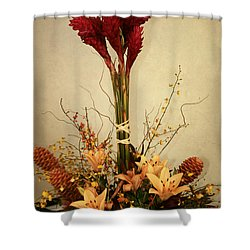 Heart Of Love Shower Curtain by Sharon Mau