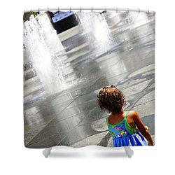 Heart Of The City Shower Curtain by Valentino Visentini