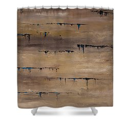 Shower Curtain featuring the painting Heartbeat by Dolores  Deal