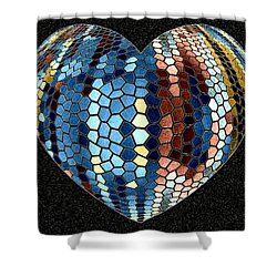 Heartline 4 Shower Curtain by Will Borden
