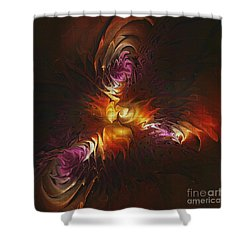 Heat Of Passion Shower Curtain by Deborah Benoit