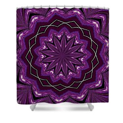 Shower Curtain featuring the digital art Heather And Lace by Alec Drake