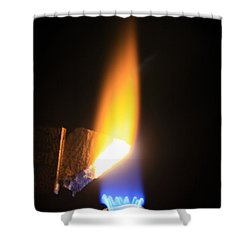 Heating Lime Limelight Shower Curtain by Ted Kinsman