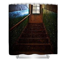 Heaven Is Closed Shower Curtain by Nathan Wright