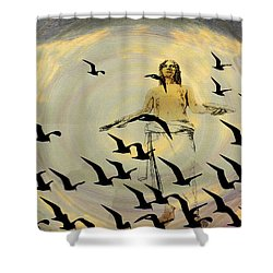 Heaven Sent Shower Curtain by Bill Cannon