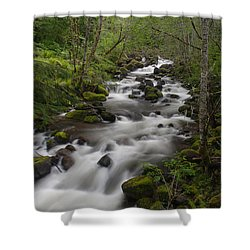 Heavenly Flow Shower Curtain by Mike Reid