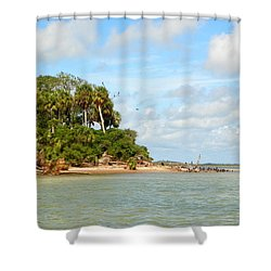 Heavenly Island View  Shower Curtain