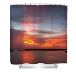 Heavenly Rays Shower Curtain by Nick  Shirghio
