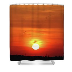 Heavenly Sunset Shower Curtain by Mariola Bitner