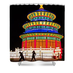 Heavenly Temple Shower Curtain by Semmick Photo