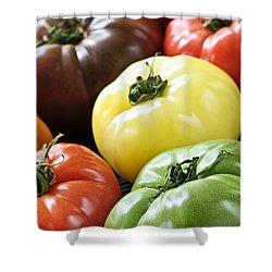 Heirloom Tomatoes Shower Curtain by Elena Elisseeva