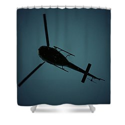 Helicopter Silhouette Shower Curtain