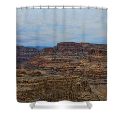 Helicopter View Of The Grand Canyon Shower Curtain by Douglas Barnard