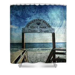 Henderson Beach State Park Florida Shower Curtain by Susanne Van Hulst