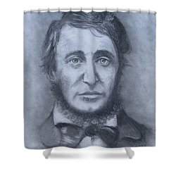 Henry David Thoreau Shower Curtain by Jack Skinner