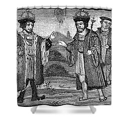 Henry Viii & Francis I Shower Curtain by Granger
