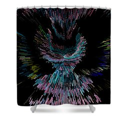 Her Cosmic Dress Or Flight Shower Curtain by Marie Jamieson