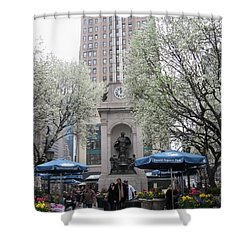 Shower Curtain featuring the photograph Herald Square by Dora Sofia Caputo Photographic Art and Design