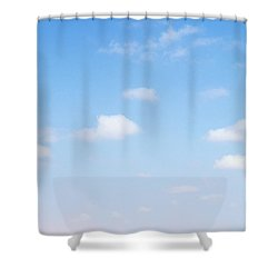 Herd Of Zebras In Dusty Scrubland Shower Curtain by Axiom Photographic