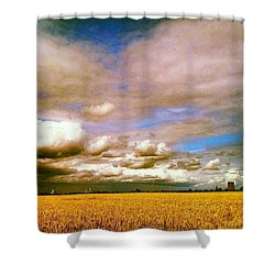 Here Comes The Rain Again Shower Curtain by Vicki Field