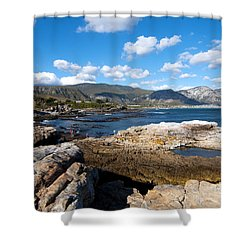 Hermanus Coastline Shower Curtain