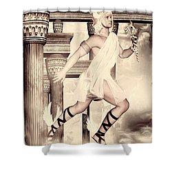 Hermes Shower Curtain by Lourry Legarde