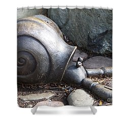 Shower Curtain featuring the photograph Hermit Crab by Chalet Roome-Rigdon
