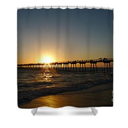 Hermosa Beach Sunset Shower Curtain by Nina Prommer
