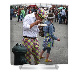 He's A Wild And Crazy Guy Shower Curtain by Kym Backland