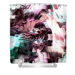 Hidden Dimensions Shower Curtain by Linda Sannuti