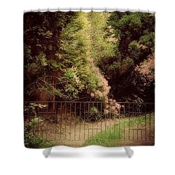Shower Curtain featuring the photograph Hidden Garden by Marilyn Wilson