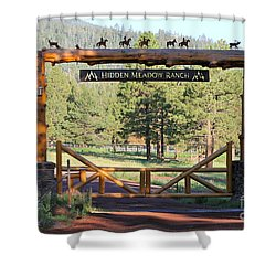 Hidden Meadow Ranch Shower Curtain