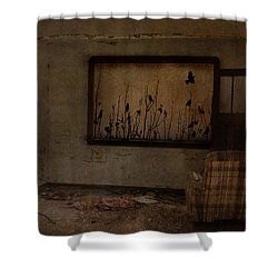 Hidden Smiles Of Birds  Shower Curtain by Empty Wall