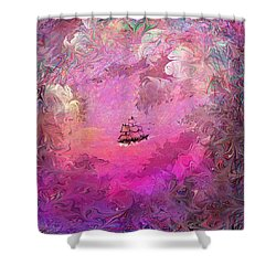 Hidden Treasure Shower Curtain by Rachel Christine Nowicki