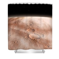 High Altitude Clouds Of Water Ice Shower Curtain by Walter Myers