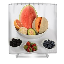 High Carbohydrate Fruit Shower Curtain by Photo Researchers, Inc.