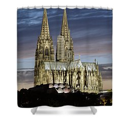 High Cathedral Of Sts. Peter And Mary In Cologne Shower Curtain by Heiko Koehrer-Wagner