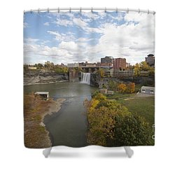 Shower Curtain featuring the photograph High Falls by William Norton
