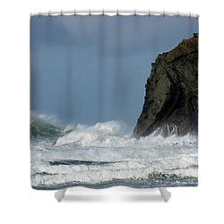 High Surf Shower Curtain by Bob Christopher