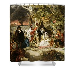 Highgate Fields During The Great Fire Of London In 1666 Shower Curtain by Edward Matthew Ward