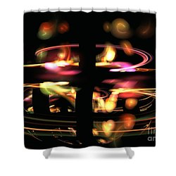 Highway Lights Shower Curtain by Kim Sy Ok