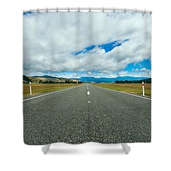 Highway Through The Countryside  Shower Curtain by Ulrich Schade