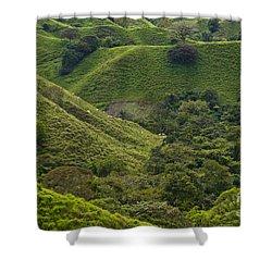 Hills Of Caizan 2 Shower Curtain by Heiko Koehrer-Wagner