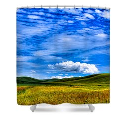 Hills Of Wheat In The Palouse Shower Curtain by David Patterson
