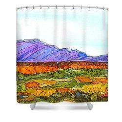 Hills That Nourish Shower Curtain