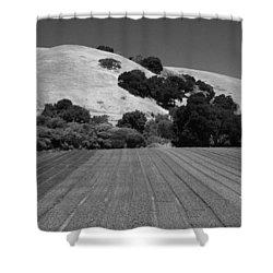 Shower Curtain featuring the photograph Hillside Farmland by Kathleen Grace