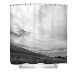 Shower Curtain featuring the photograph Hillside Meets Sky by Kathleen Grace
