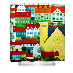 Hillside Village Shower Curtain