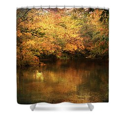 Hint Of September Shower Curtain by Jai Johnson