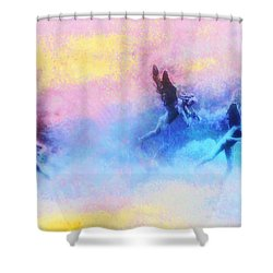 Hippie Heaven Shower Curtain by Bill Cannon